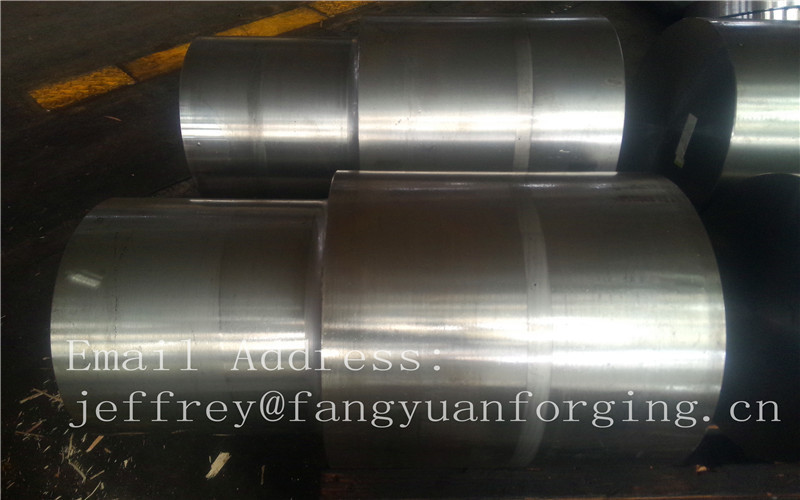 42CrMo4 SCM440 AISI 4140 Alloy Steel Forged Shaft Blanks Quenching And Tempering Rough Machining